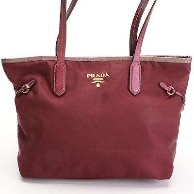 Prada Tote Bag in Tessuto Nylon with Saffiano Leather Trim