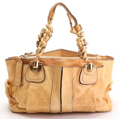 Chloé Heloise Shoulder Bag in Tan Leather
