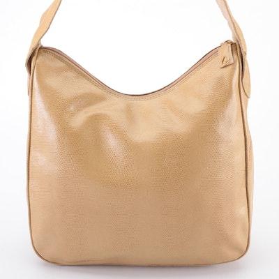 Desmo Shoulder Bag in Faux Lizard Skin