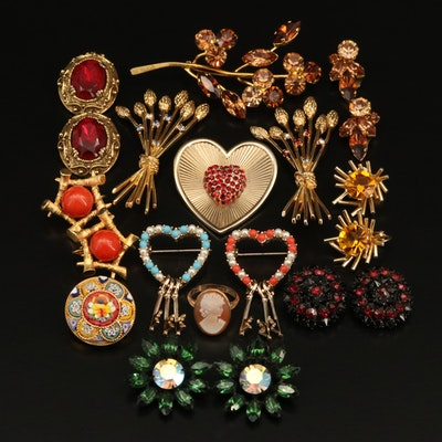 Marcel Boucher and Castlecliff Featured with Vintage Rhinestone Jewelry