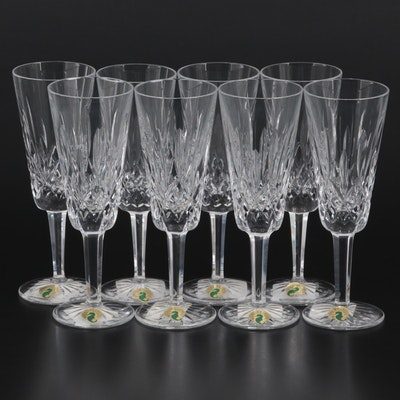 """Waterford Crystal """"Lismore"""" Fluted Champagne Glasses"""