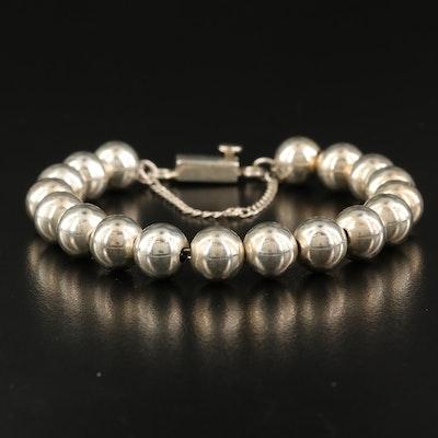 Sterling Bead Chain Bracelet