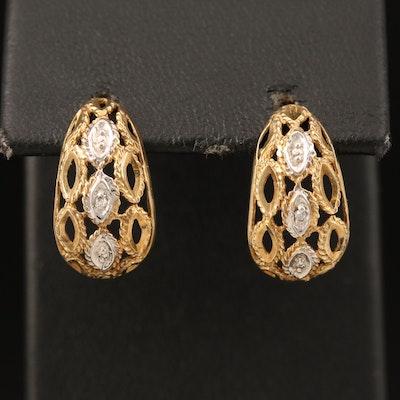10K 0.01 CTW Diamond Earrings