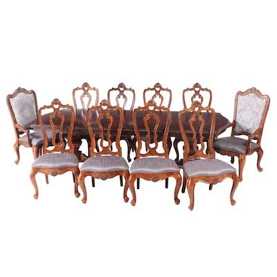 "Universal Furniture ""Villa Cortina"" Mahogany-Stained Ten-Piece Dining Set"