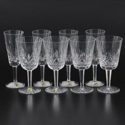 """Waterford Crystal """"Lismore"""" Water Goblets and Champagne Flutes"""