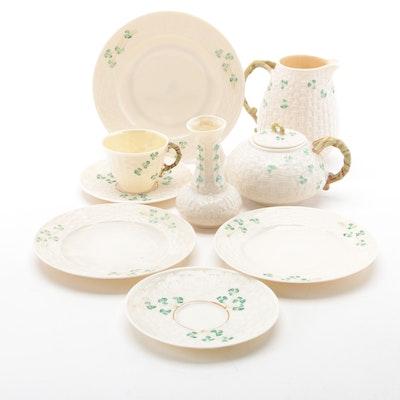"Belleek ""Shamrock"" Porcelain Tableware"