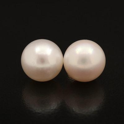 14K 10.50 mm Pearl Stud Earrings