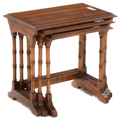 Three Regency Style Mahogany-Stained Graduated Side Tables, Late 20th Century