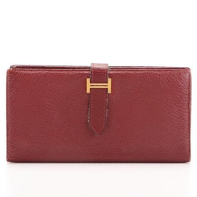 Hermès Bearn Leather Wallet