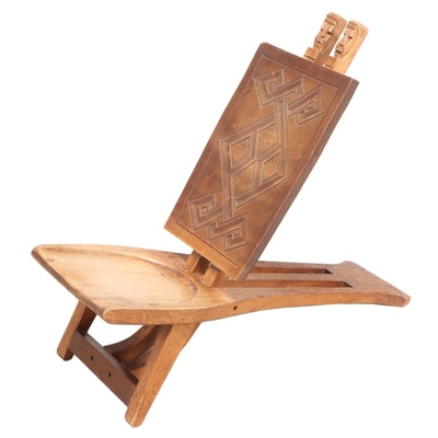 African Carved Mahogany Chair