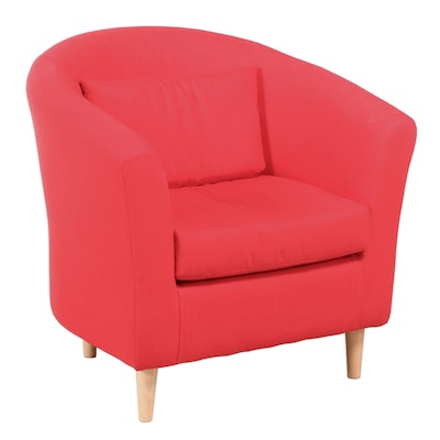 IKEA Red Upholstered Tub Chair