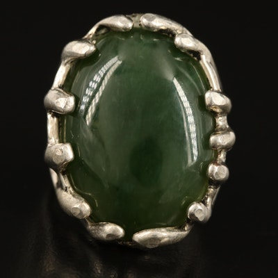 Sterling Nephrite Ring