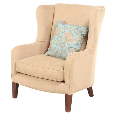 Klaussner Upholstered Wingback Armchair, Late 20th Century