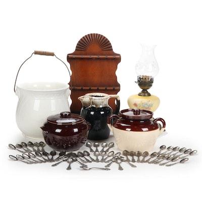 Pfaltzgraff Coffee Server, Two Bean Pots, Loevsky & Loevsky Lamp, More