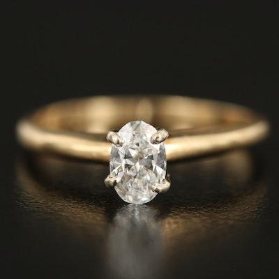 14K 0.52 CTW Diamond Solitaire Ring