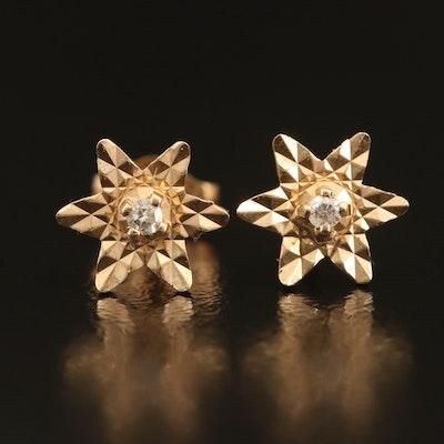 14K 0.03 CTW Diamond Star Earrings