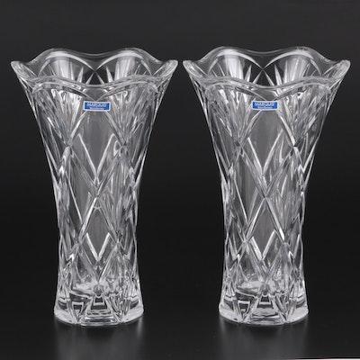 "Marquis by Waterford Crystal ""Honour"" Flower Vases"