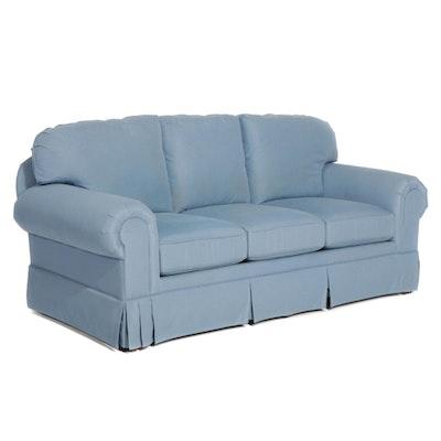 Temple Three-Seat Skirted Sofa