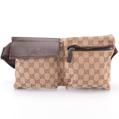 Gucci Belt Bag in GG Canvas and Leather Trim