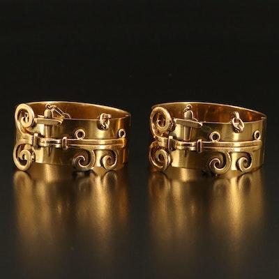 Scroll Hinged Bracelets