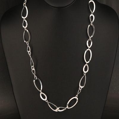 Italian Sterling Fancy Link Necklace