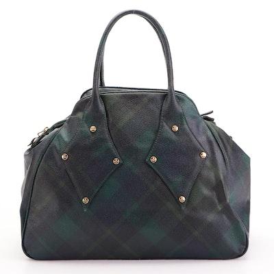 Vivienne Westwood Derby Blackwatch Plaid Coated Canvas Handbag