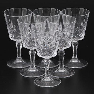 Pressed Glass Sherry Stemware