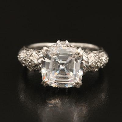 Judith Ripka Sterling Cubic Zirconia Ring