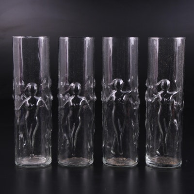 Libbey La Femme Naked Ladies Cocktail Highball Glasses, Mid to Late 20th Century