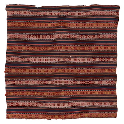 5'10 x 5'11 Handwoven Central Asian Area Rug