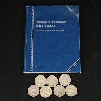 Thirty Benjamin Franklin Silver Half Dollars, 1949 - 1963