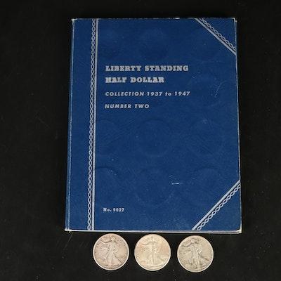 Twenty-Nine Walking Liberty Half Dollars, 1937 - 1947