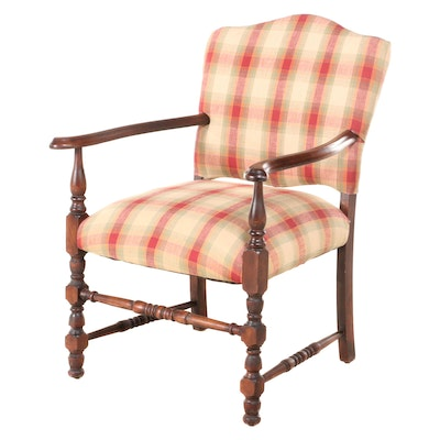 English Style Mahogany Arm Chair, Early to Mid-20th Century