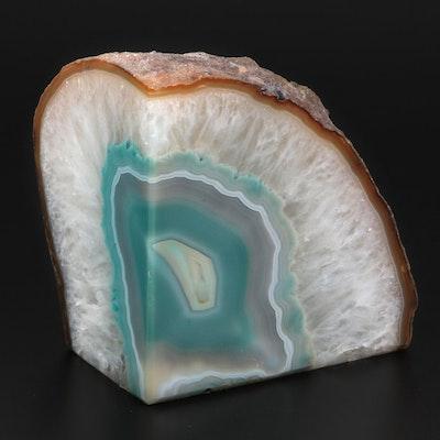 Dyed Quartz Geode Mineral Specimen