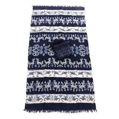 Handwoven Ikat Cotton Blend Wraps