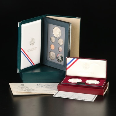 United States Mint 1995 Prestige Proof Set and 1998 Kennedy Silver Dollar Set